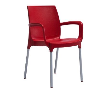 Plastična stolica CASTELLO red