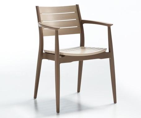Plastična stolica Regnum desert brown