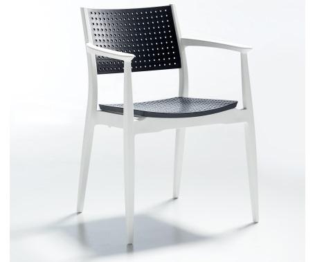 Plastična stolica Seginus antracite/white