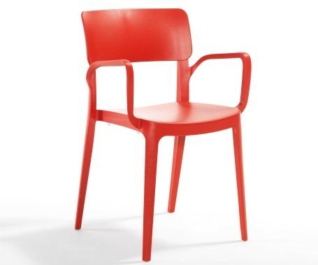 Plastična stolica Panora red
