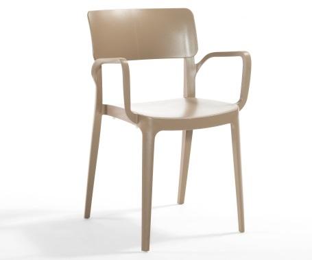 Plastična stolica Panora sand beige