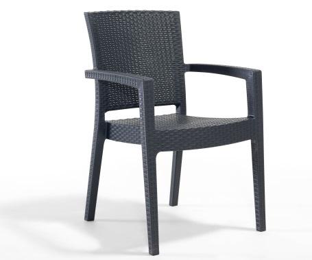 Plastična stolica PARIS antracite