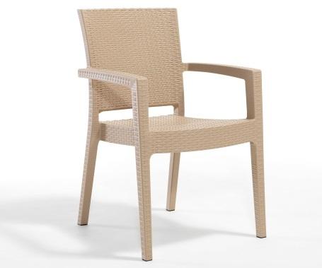 Plastična stolica Paris cappucino