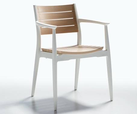 Plastična stolica Regnum ivory/white