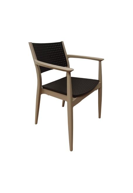 Plastična stolica Seginus capuccino brown